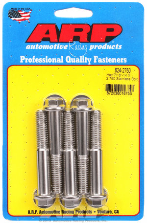 ARP 7/16-14 X 2.750 hex 1/2 wrenching SS bolts 6242750