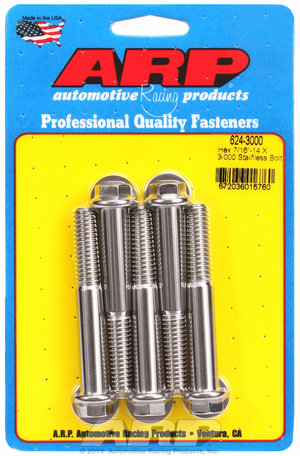 ARP 7/16-14 X 3.000 hex 1/2 wrenching SS bolts 6243000