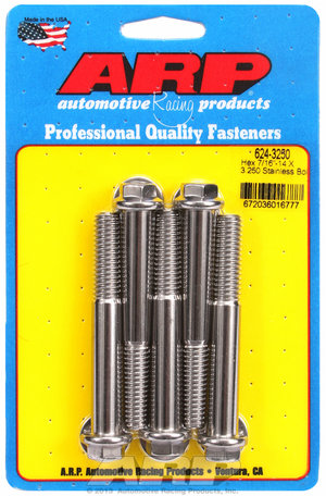 ARP 7/16-14 X 3.250 hex 1/2 wrenching SS bolts 6243250
