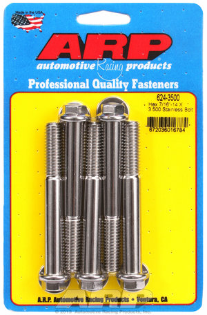 ARP 7/16-14 X 3.500 hex 1/2 wrenching SS bolts 6243500