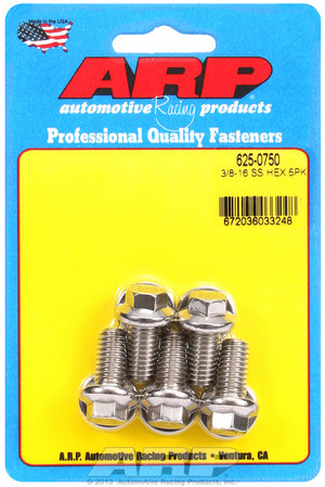 ARP 3/8-16 x 0.750 hex 7/16 wrenching SS bolts 6250750