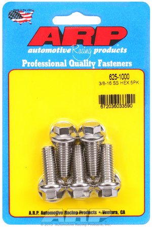 ARP 3/8-16 x 1.000 hex 7/16 wrenching SS bolts 6251000