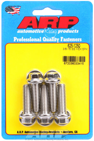 ARP 3/8-16 x 1.250 hex 7/16 wrenching SS bolts 6251250