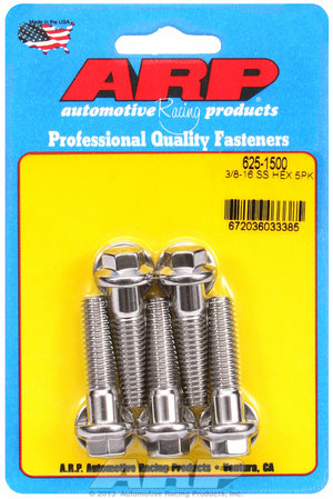 ARP 3/8-16 x 1.500 hex 7/16 wrenching SS bolts 6251500