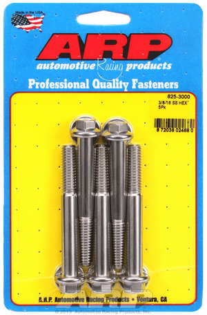 ARP 3/8-16 x 3.000 hex 7/16 wrenching SS bolts 6253000