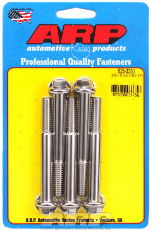 ARP 3/8-16 x 3.250 hex 7/16 wrenching SS bolts 6253250