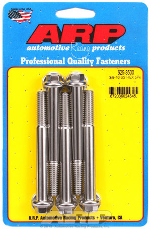 ARP 3/8-16 x 3.500 hex 7/16 wrenching SS bolts 6253500