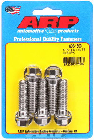 ARP 7/16-14 X 1.500 hex SS bolts 6261500
