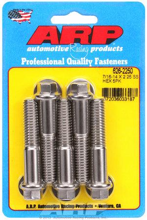 ARP 7/16-14 X 2.250 hex SS bolts 6262250