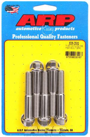 ARP 7/16-14 X 2.500 hex SS bolts 6262500