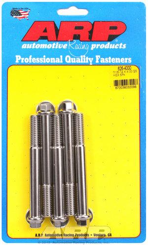 ARP 7/16-14 X 4.000 hex SS bolts 6264000