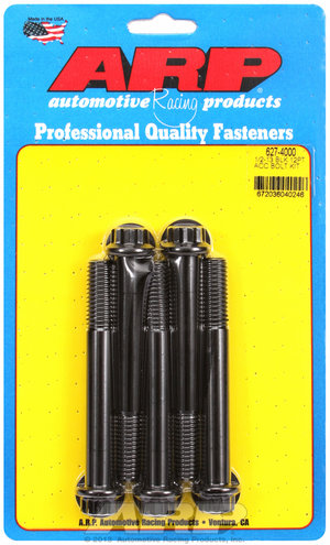 ARP 1/2-13 x 4.000 12pt black oxide bolts 6274000