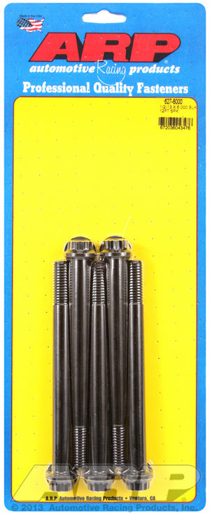 ARP 1/2-13 x 6.000 12pt black oxide bolts 6276000