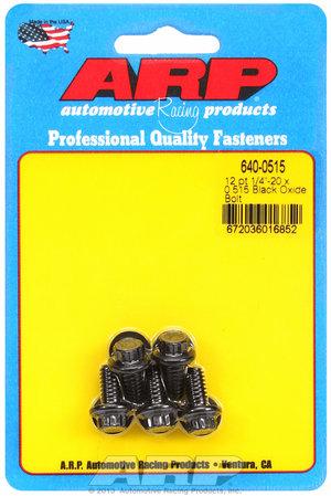 ARP 1/4-20 x 0.515 12pt black oxide bolts 6400515
