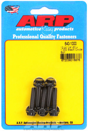 ARP 1/4-20 x 1.000 12pt black oxide bolts 6401000