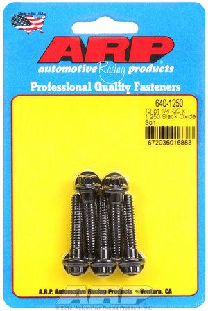 ARP 1/4-20 x 1.250 12pt black oxide bolts 6401250