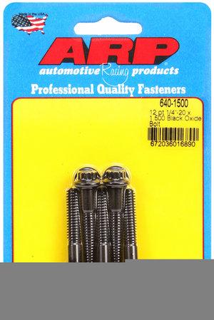ARP 1/4-20 x 1.500 12pt black oxide bolts 6401500