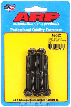 ARP 1/4-20 x 2.000 12pt black oxide bolts 6402000