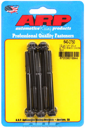 ARP 1/4-20 x 2.750 12pt black oxide bolts 6402750