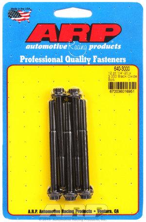ARP 1/4-20 x 3.000 12pt black oxide bolts 6403000
