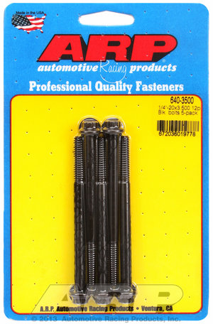 ARP 1/4-20 x 3.500 12pt black oxide bolts 6403500