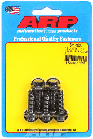 ARP 5/16-18 x 1.000 12pt black oxide bolts 6411000
