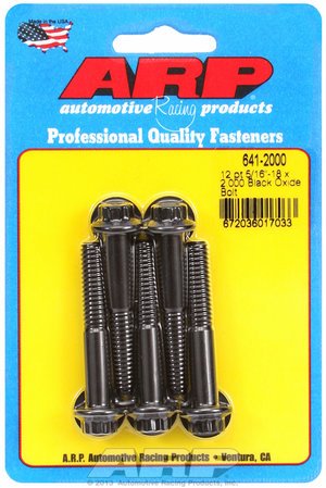 ARP 5/16-18 x 2.000 12pt black oxide bolts 6412000