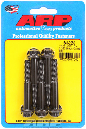 ARP 5/16-18 x 2.250 12pt black oxide bolts 6412250