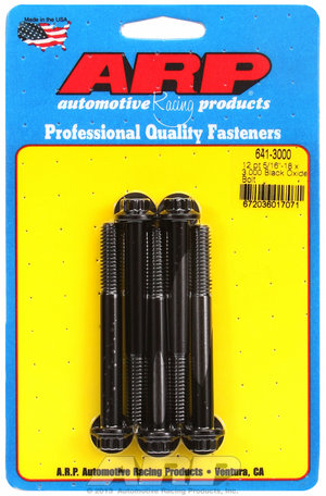 ARP 5/16-18 x 3.000 12pt black oxide bolts 6413000