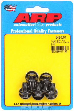 ARP 3/8-16 x 0.500 12pt black oxide bolts 6420500