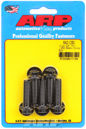 ARP 3/8-16 x 1.250 12pt black oxide bolts 6421250