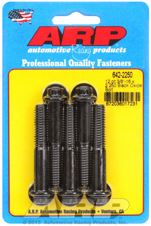 ARP 3/8-16 x 2.250 12pt black oxide bolts 6422250