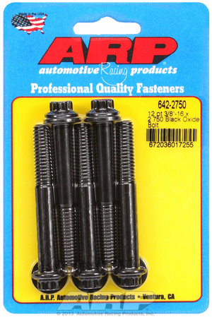 ARP 3/8-16 x 2.750 12pt black oxide bolts 6422750