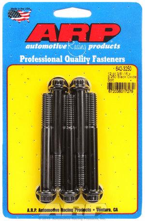 ARP 3/8-16 x 3.250 12pt black oxide bolts 6423250