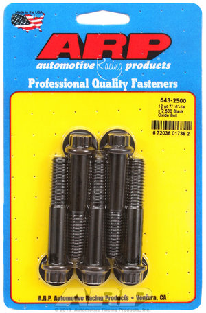ARP 7/16-14 x 2.500 12pt black oxide bolts 6432500