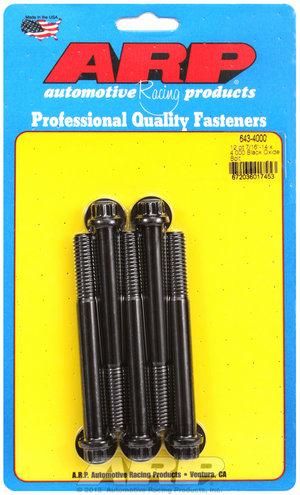 ARP 7/16-14 x 4.000 12pt black oxide bolts 6434000