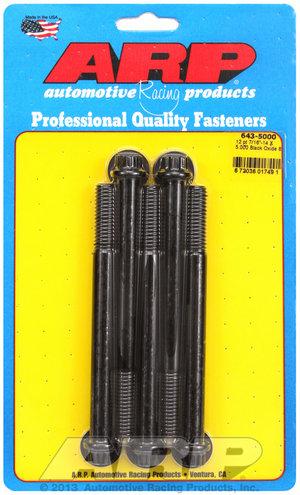 ARP 7/16-14 x 5.000 12pt black oxide bolts 6435000