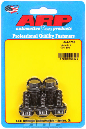 ARP 3/8-16 x 0.750 12pt 7/16 wrenching black oxide bolts 6440750