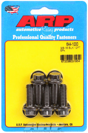 ARP 3/8-16 x 1.000 12pt 7/16 wrenching black oxide bolts 6441000