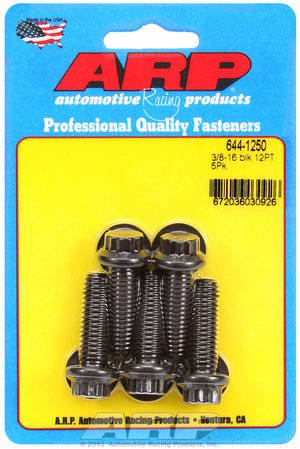 ARP 3/8-16 x 1.250 12pt 7/16 wrenching black oxide bolts 6441250