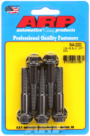 ARP 3/8-16 x 2.000 12pt 7/16 wrenching black oxide bolts 6442000