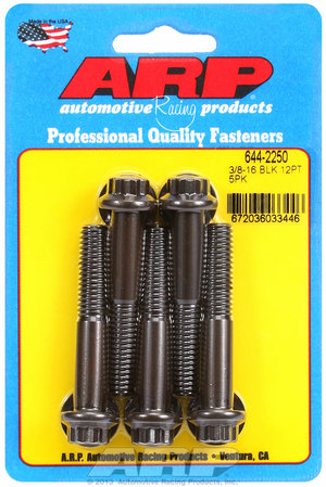 ARP 3/8-16 x 2.250 12pt 7/16 wrenching black oxide bolts 6442250