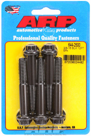 ARP 3/8-16 x 2.500 12pt 7/16 wrenching black oxide bolts 6442500