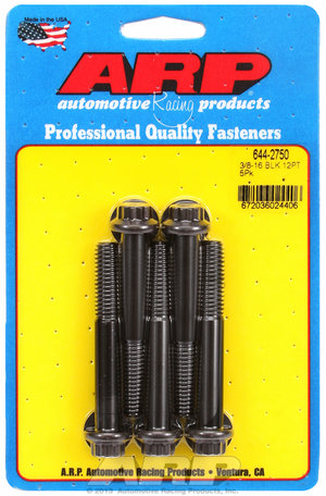 ARP 3/8-16 x 2.750 12pt 7/16 wrenching black oxide bolts 6442750