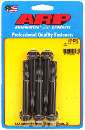 ARP 3/8-16 x 3.000 12pt 7/16 wrenching black oxide bolts 6443000