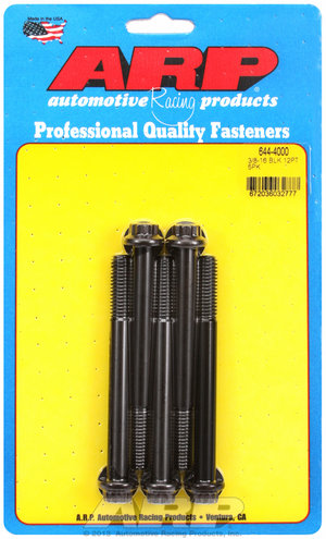 ARP 3/8-16 x 4.000 12pt 7/16 wrenching black oxide bolts 6444000