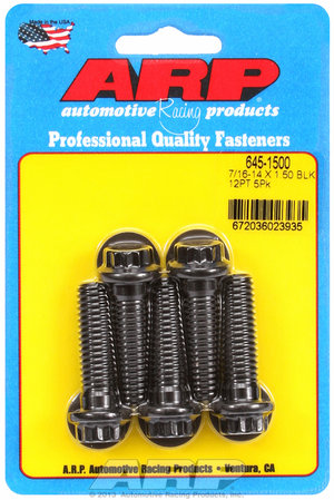 ARP 7/16-14 X 1.500 12pt 1/2 wrenching black oxide bolts 6451500
