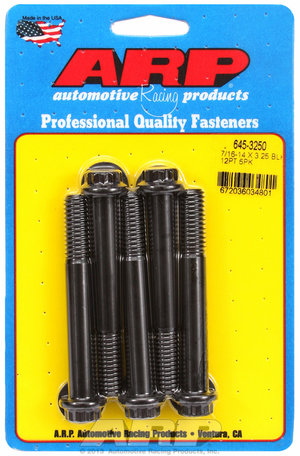 ARP 7/16-14 X 3.250 12pt 1/2 wrenching black oxide bolts 6453250