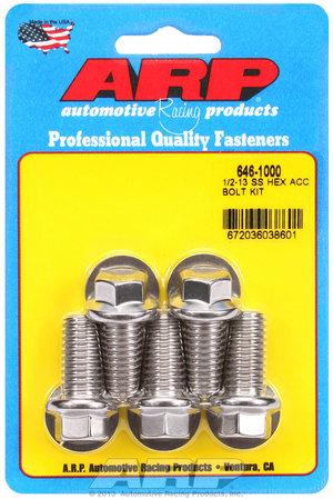 ARP 1/2-13 X 1.000 hex SS bolts 6461000