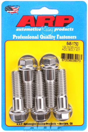 ARP 1/2-13 X 1.750 hex SS bolts 6461750